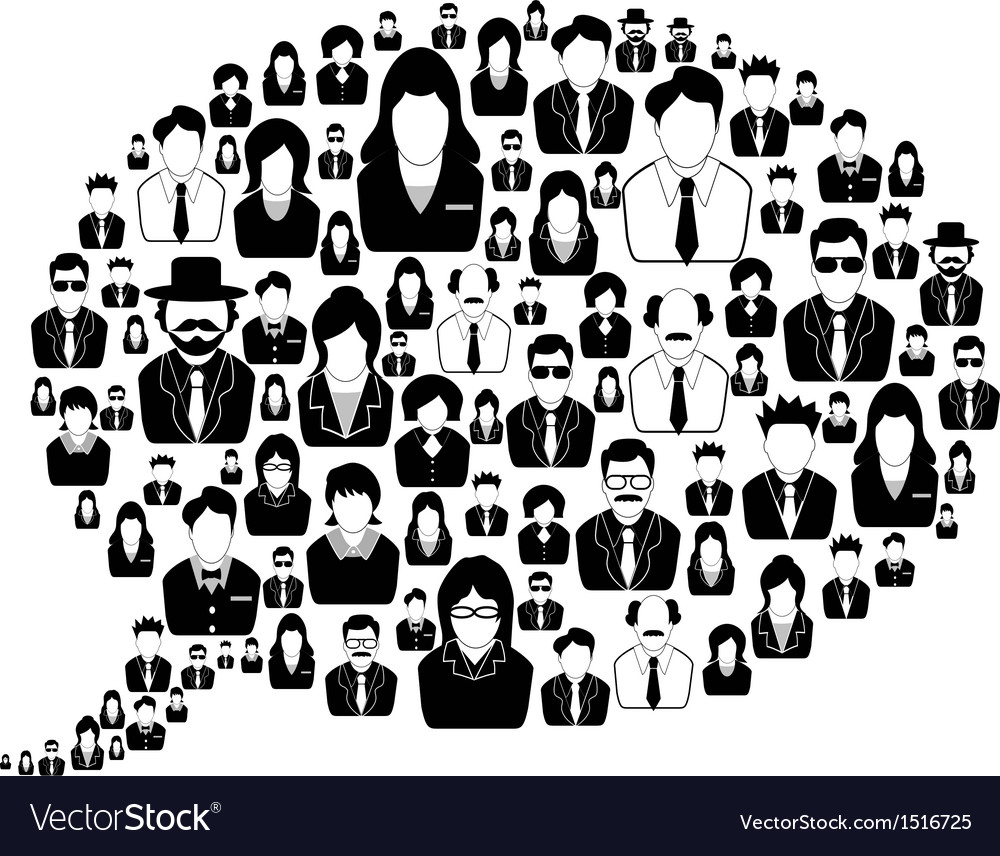 Business people in the speech bubble vector | Price: 1 Credit (USD $1)