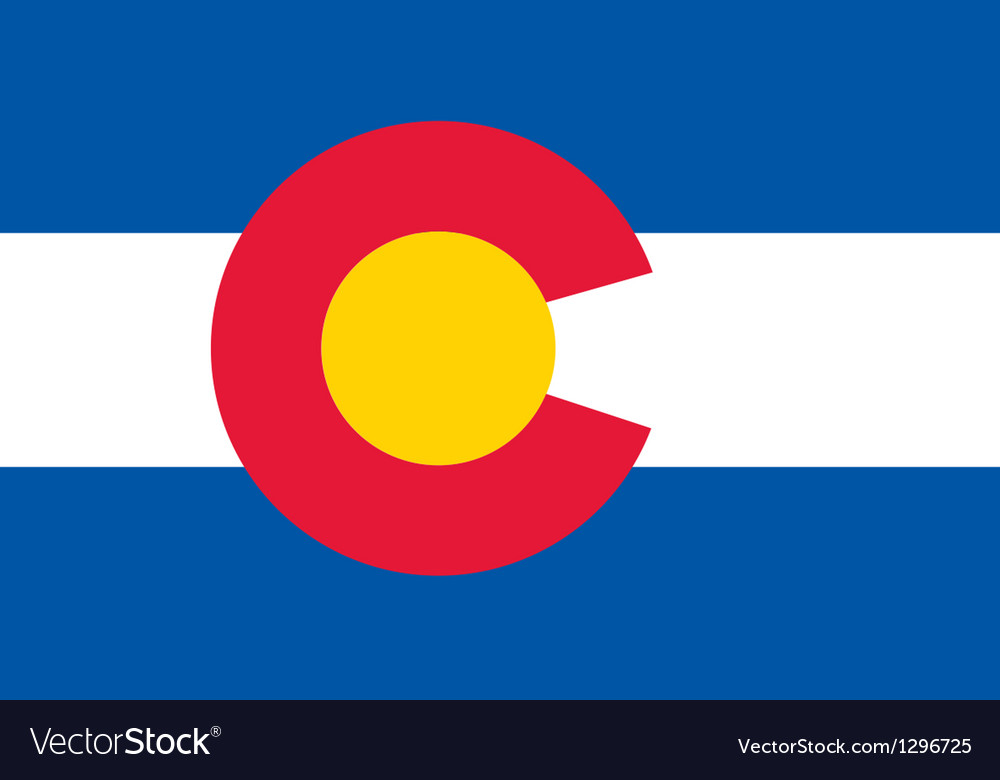 Colorado flag vector | Price: 1 Credit (USD $1)