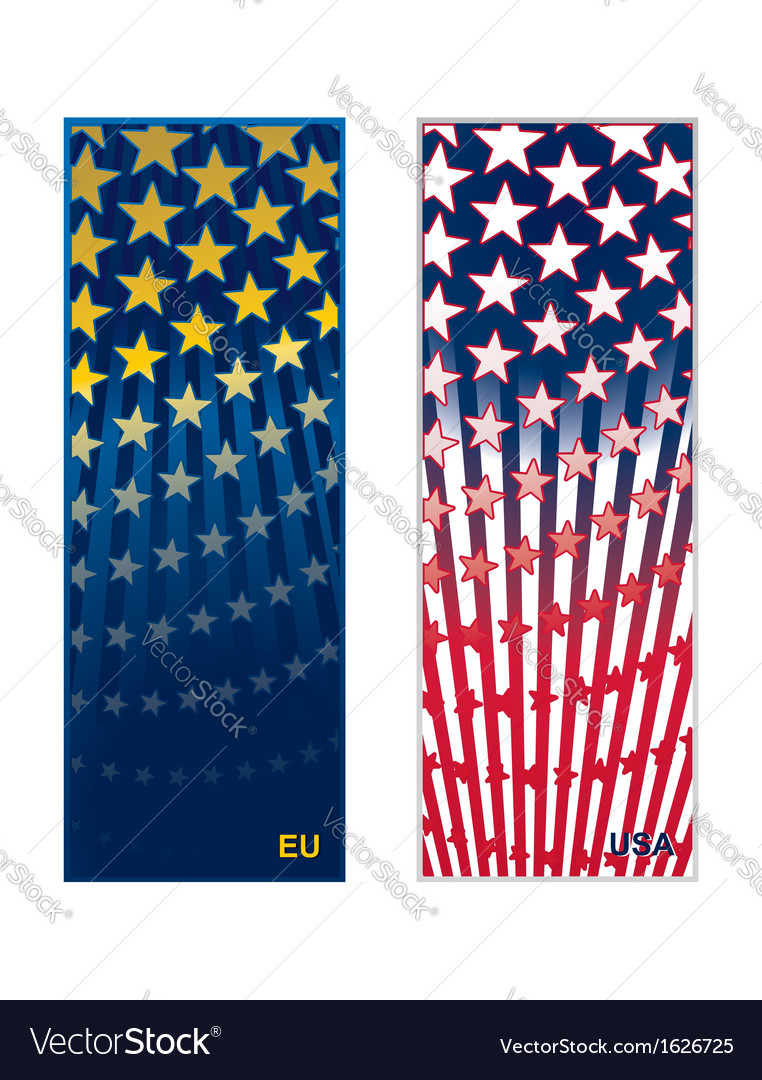 Colored background european union and united state vector | Price: 1 Credit (USD $1)