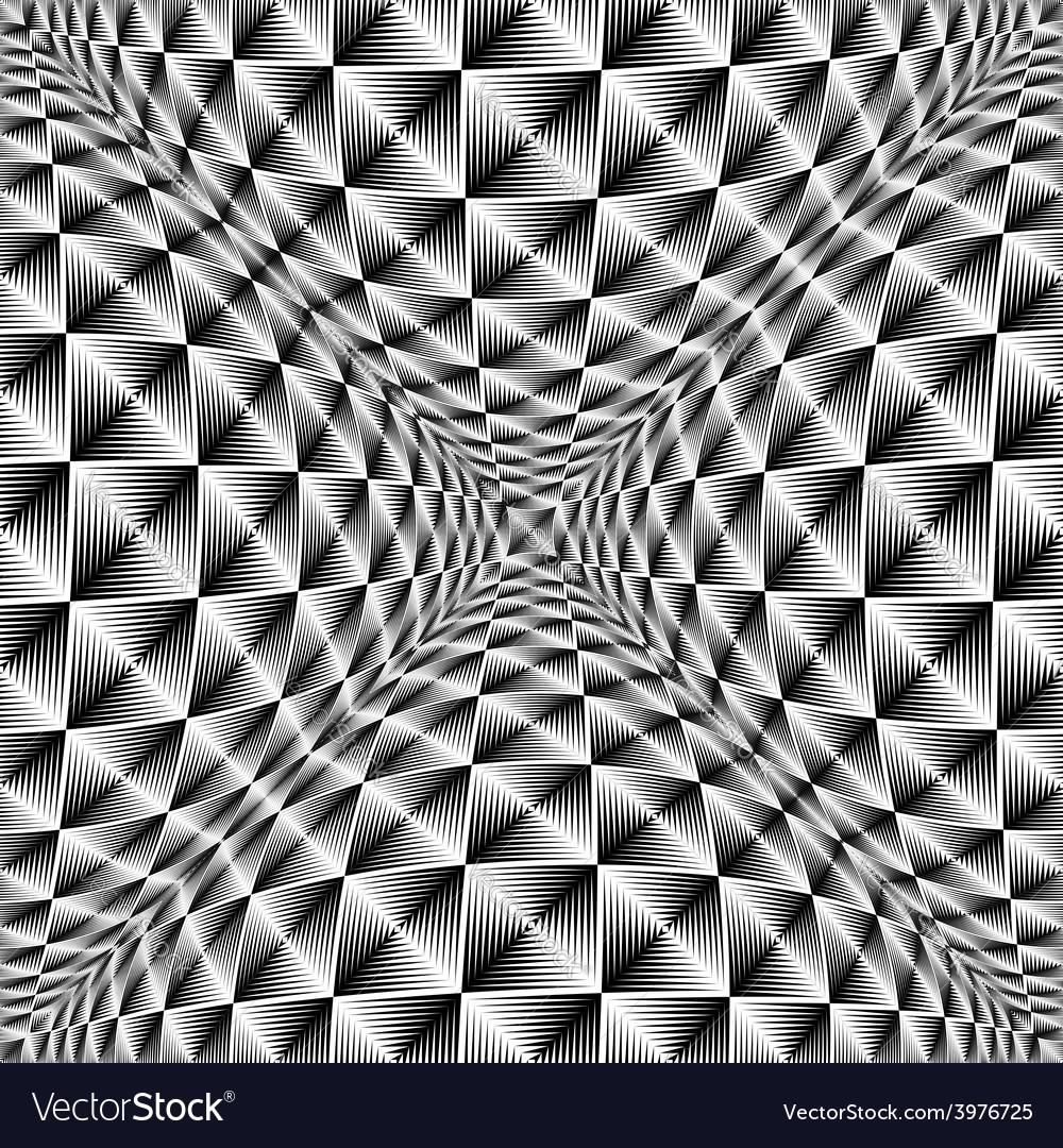 Design warped square volumetric pattern vector | Price: 1 Credit (USD $1)