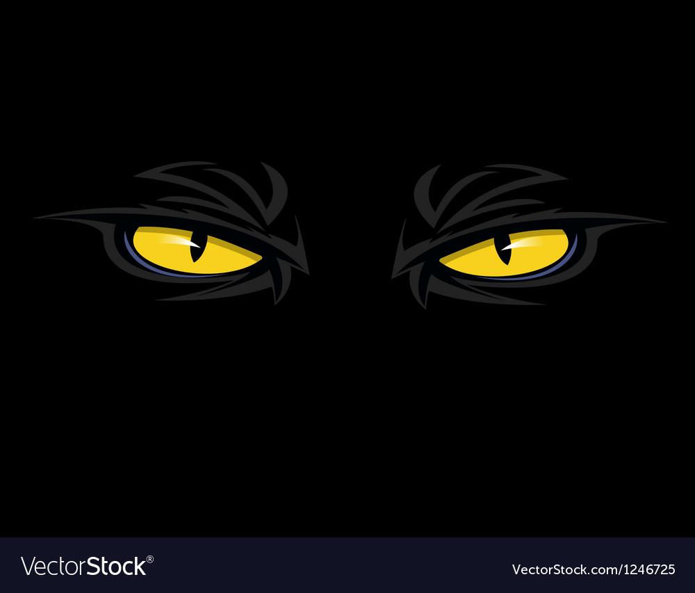 Evil eyes thumb vector