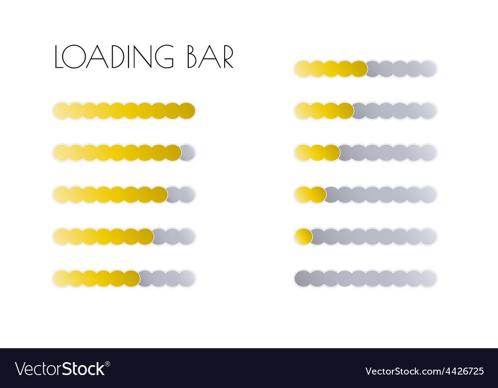 Gold loading bars vector | Price: 1 Credit (USD $1)