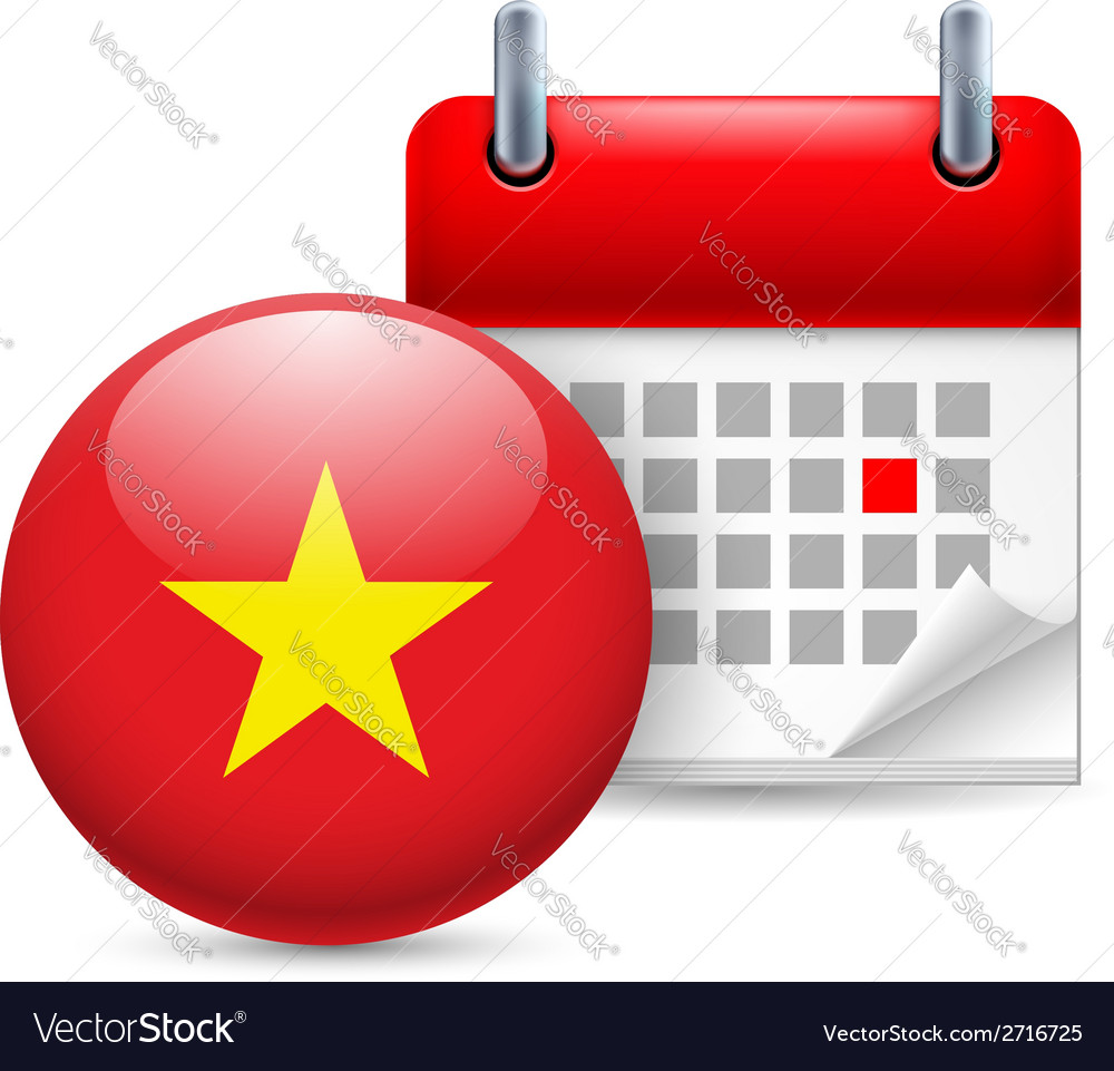 Icon of national day in vietnam vector | Price: 1 Credit (USD $1)