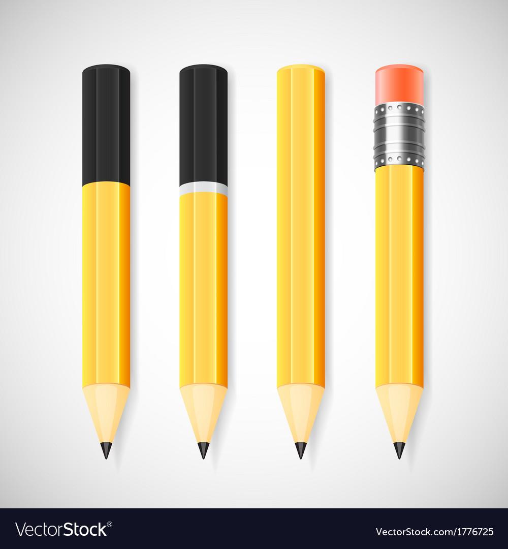 Pencil set vector | Price: 1 Credit (USD $1)