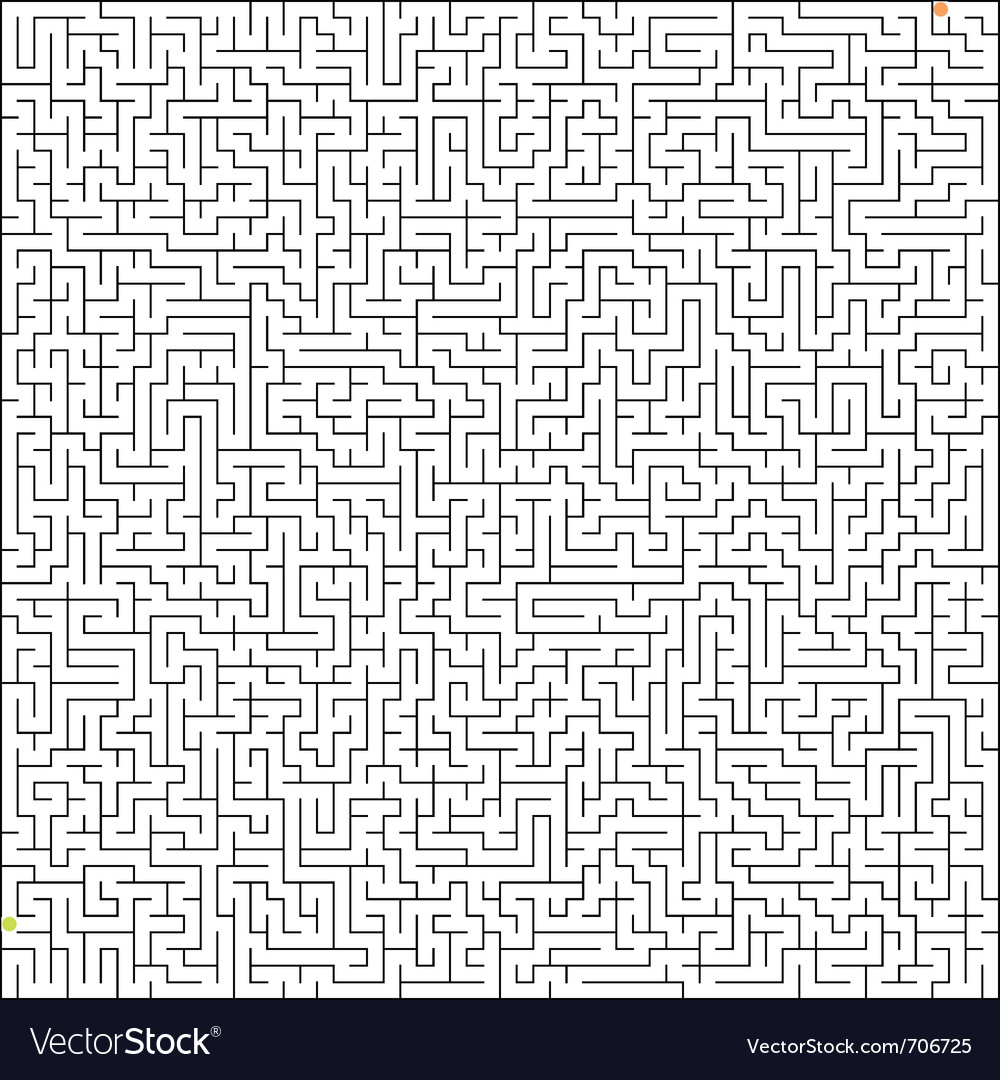 Perfect maze vector | Price: 1 Credit (USD $1)