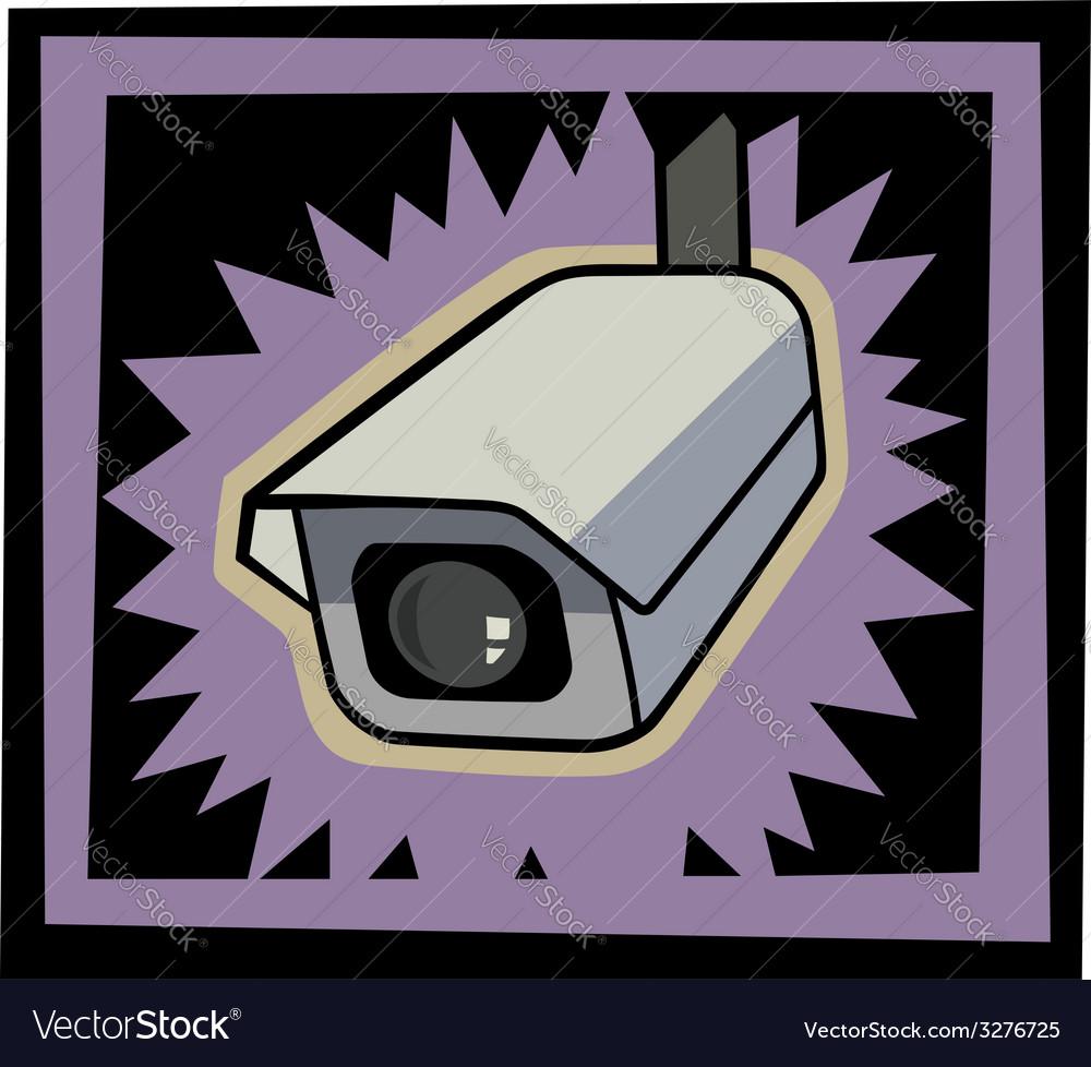 Security camera vector | Price: 1 Credit (USD $1)