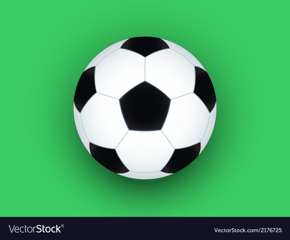 Soccer ball on green vector | Price: 1 Credit (USD $1)