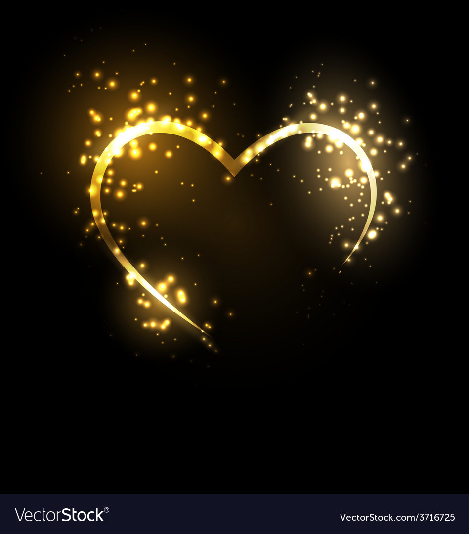 Sparkling heart on black vector | Price: 1 Credit (USD $1)
