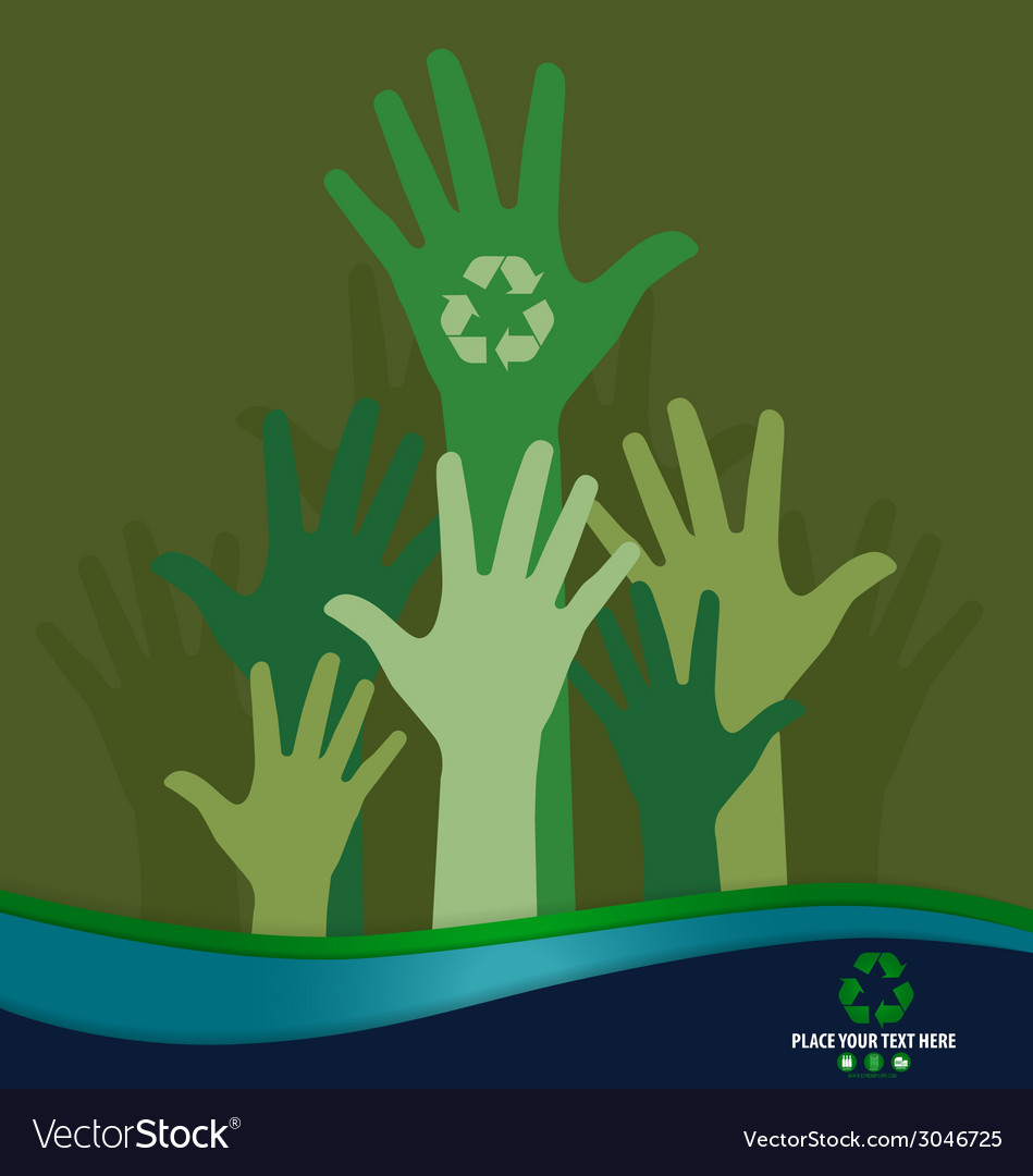 Think green ecology concept recycle symbol design vector | Price: 1 Credit (USD $1)