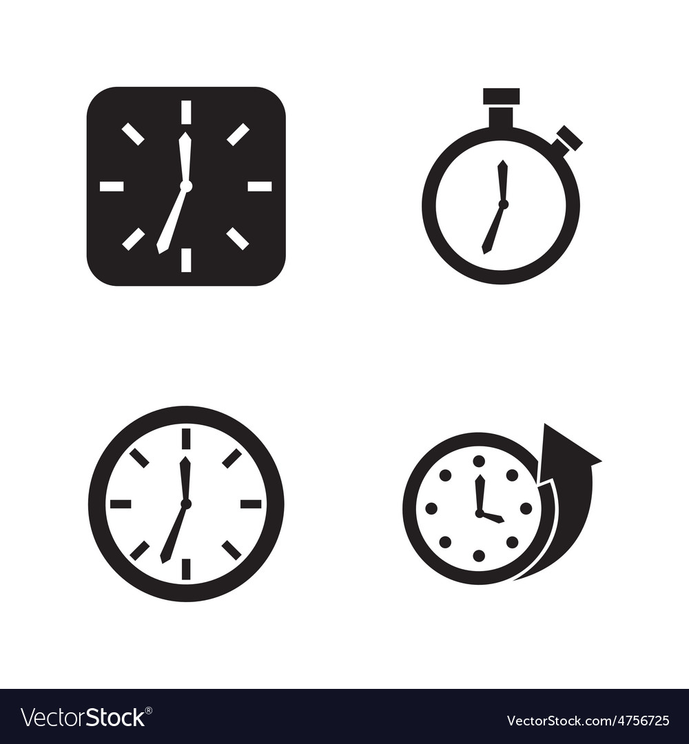 Time icons vector | Price: 1 Credit (USD $1)