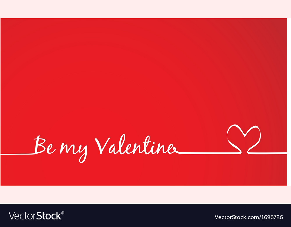 Be my valentine text -handmade calligraphy vector | Price: 1 Credit (USD $1)