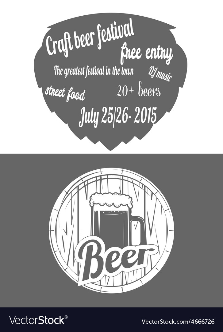 Beer festival two-color flayer vector | Price: 1 Credit (USD $1)