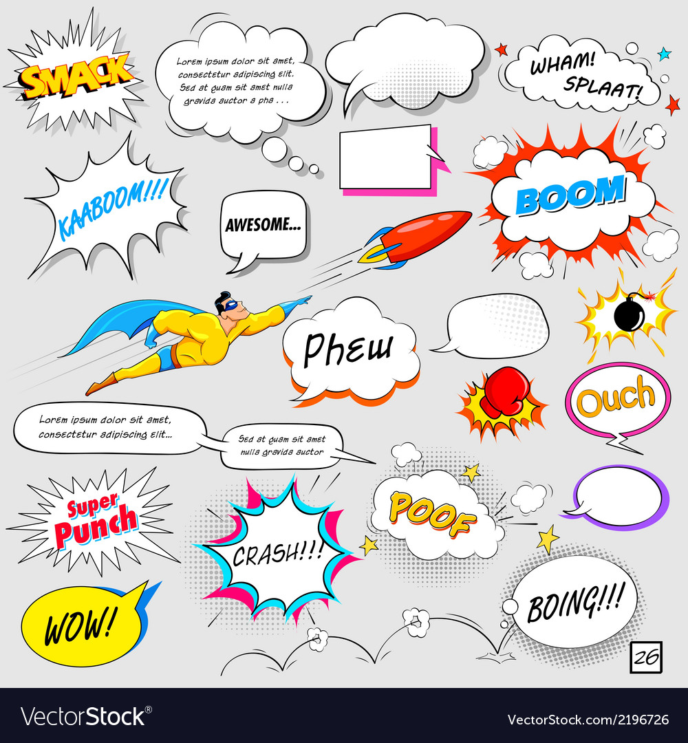 Comic speech bubble vector | Price: 1 Credit (USD $1)