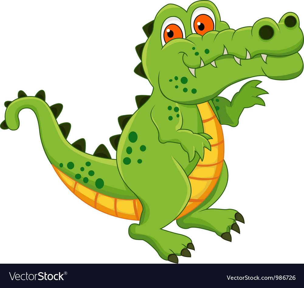 Crocodile cartoon isolated vector | Price: 1 Credit (USD $1)