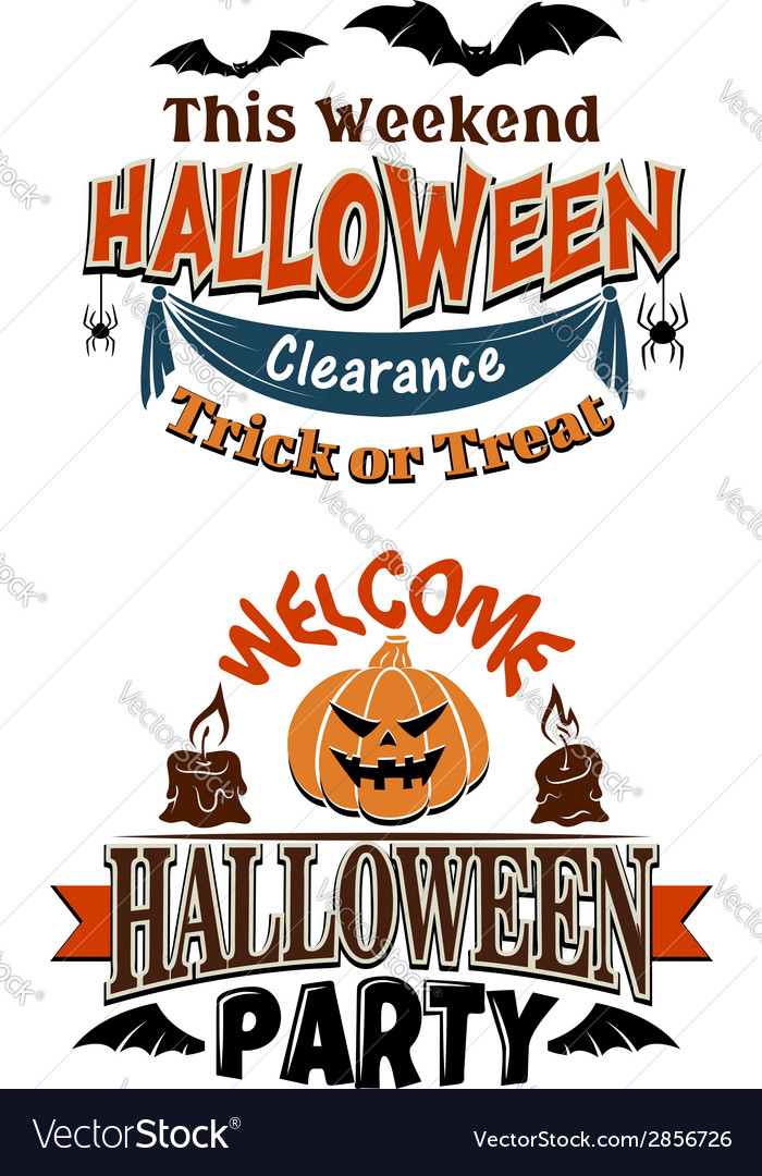 Halloween costume party invitation vector | Price: 1 Credit (USD $1)