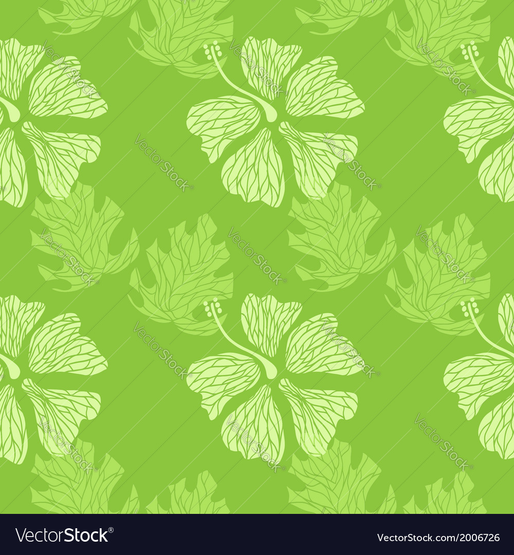 Hibiscus pattern lime vector | Price: 1 Credit (USD $1)