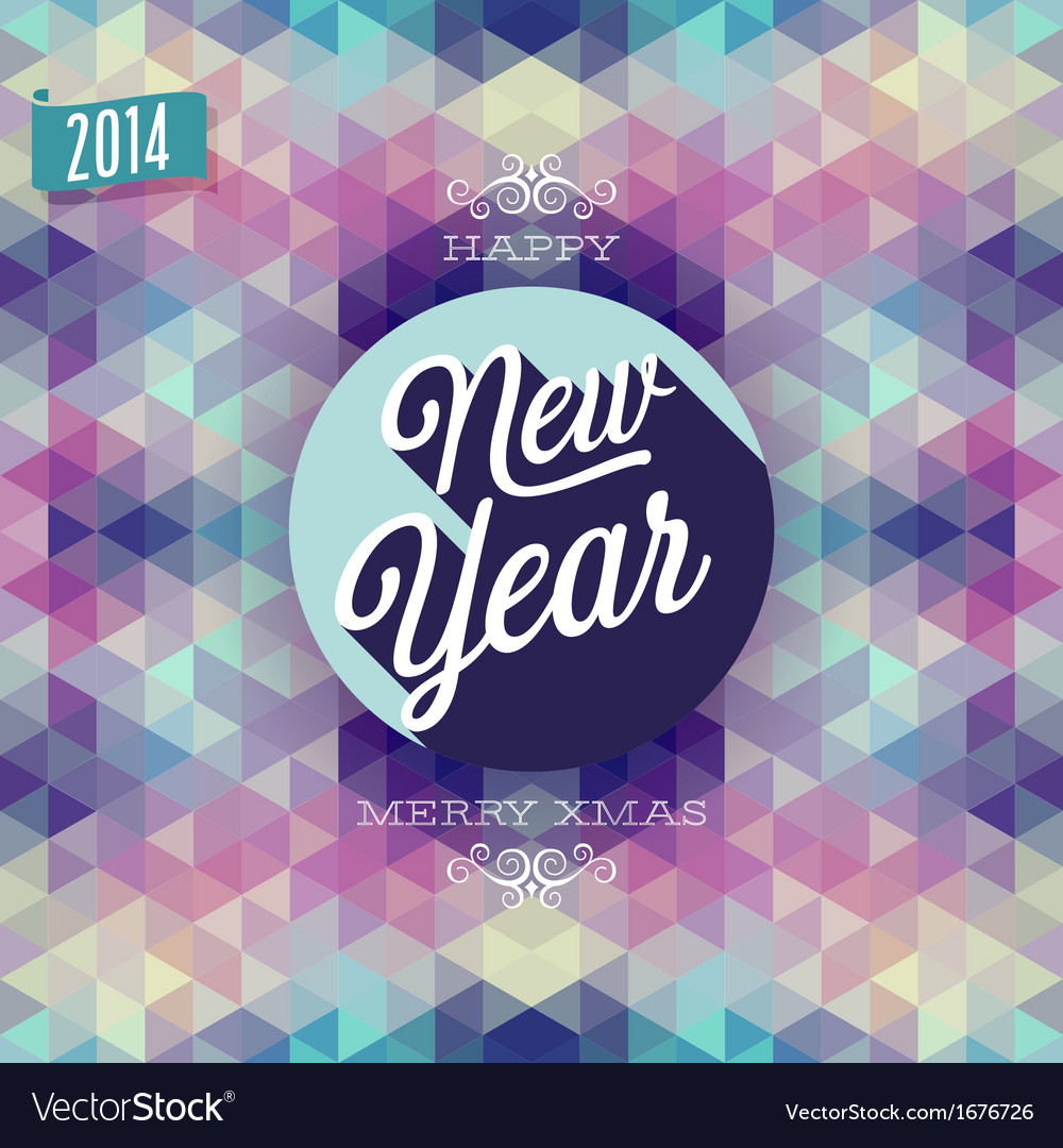 Hipster new year vector | Price: 1 Credit (USD $1)