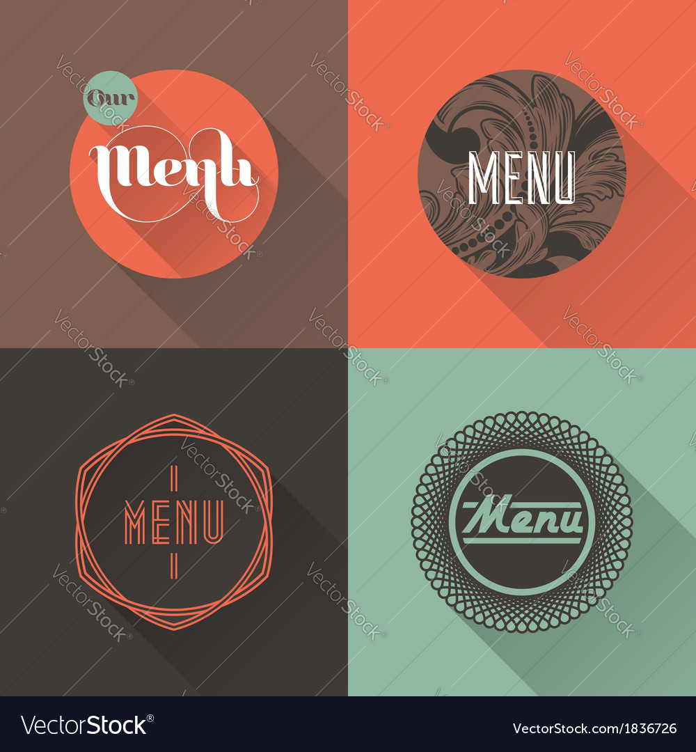 Labels for restaurant menu design vector | Price: 1 Credit (USD $1)