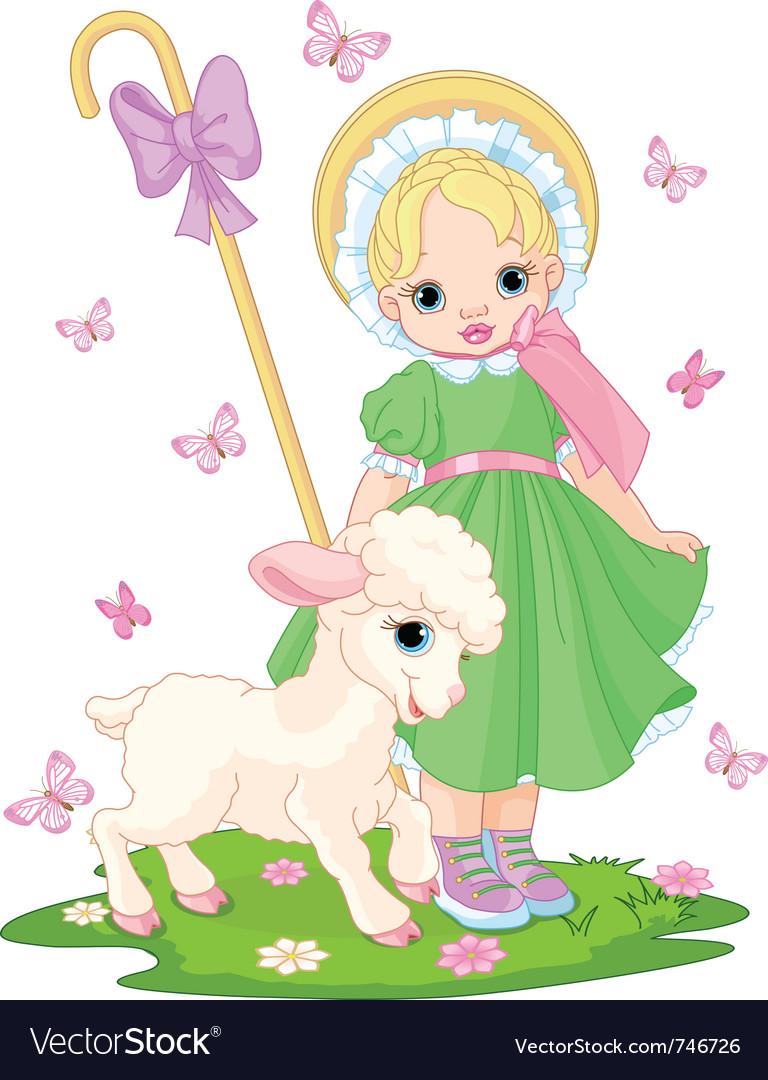 Little shepherdess vector   Price: 3 Credit (USD $3)