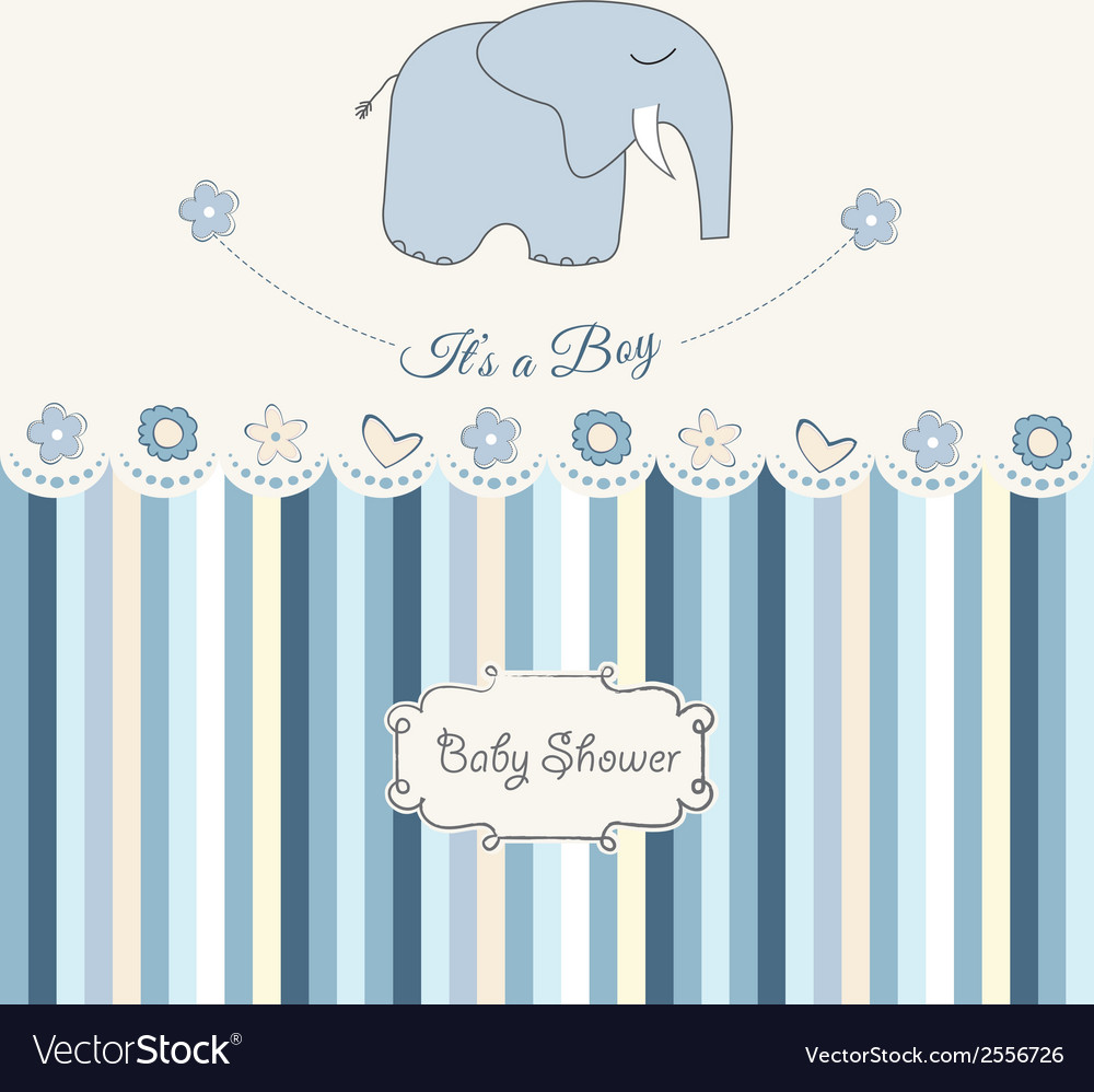 New baby boy announcement card vector | Price: 1 Credit (USD $1)