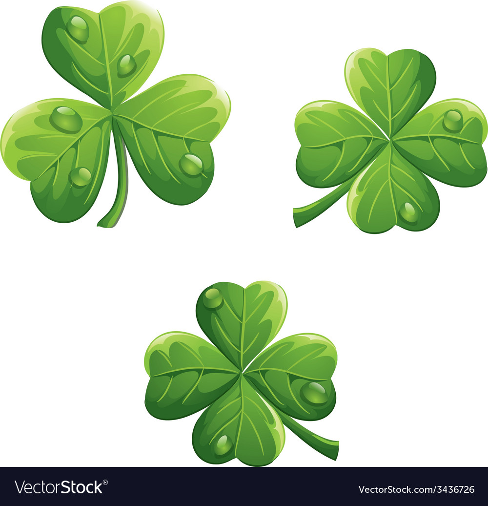 Object to the st patricks day clover vector | Price: 3 Credit (USD $3)