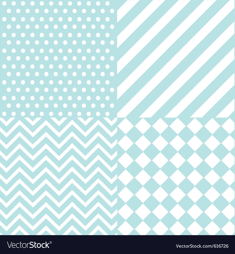 Seamless baby boy pattern vector | Price: 1 Credit (USD $1)