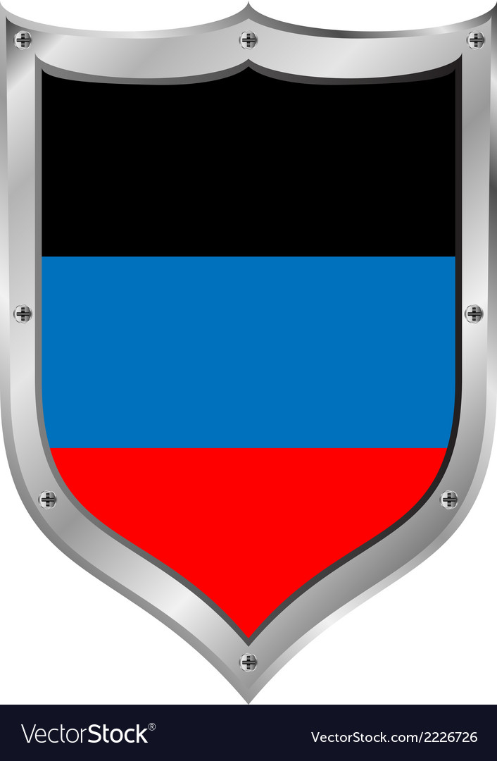 Shield with flag of donetsk vector | Price: 1 Credit (USD $1)
