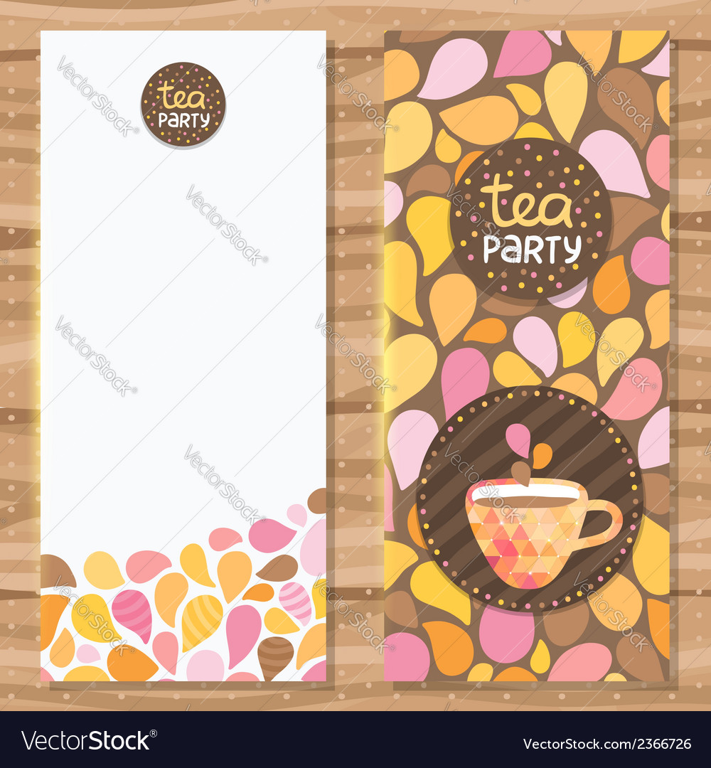 Tea party brochure template vector | Price: 1 Credit (USD $1)