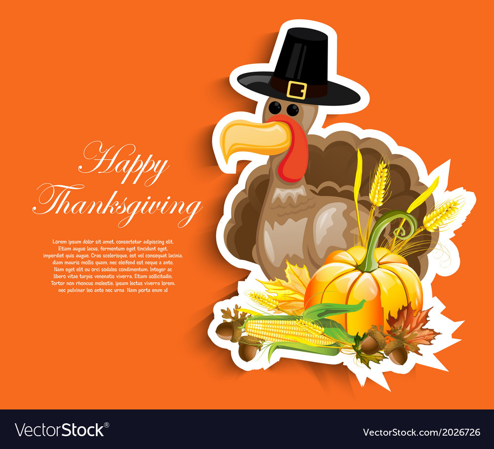 Thanksgiving design vector | Price: 1 Credit (USD $1)