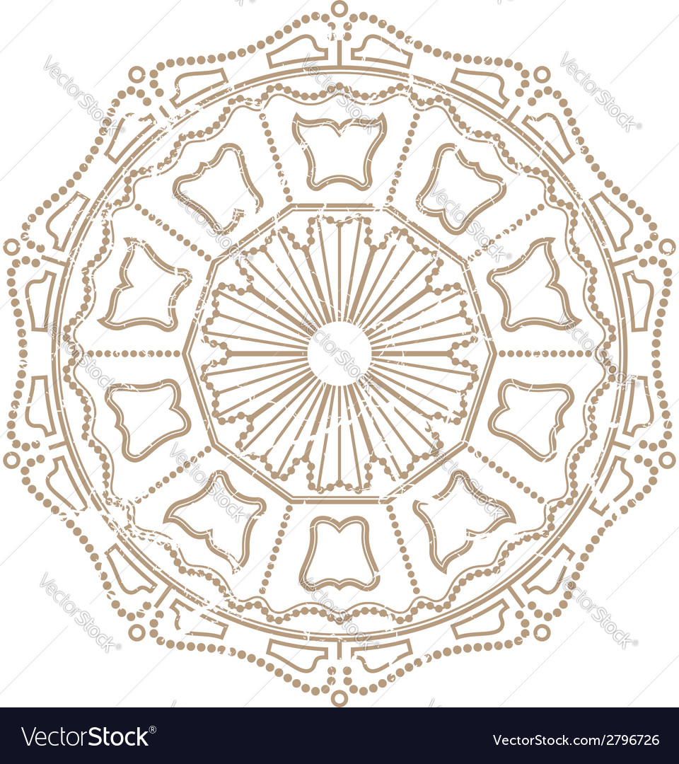 Vintage ornament vector | Price: 1 Credit (USD $1)