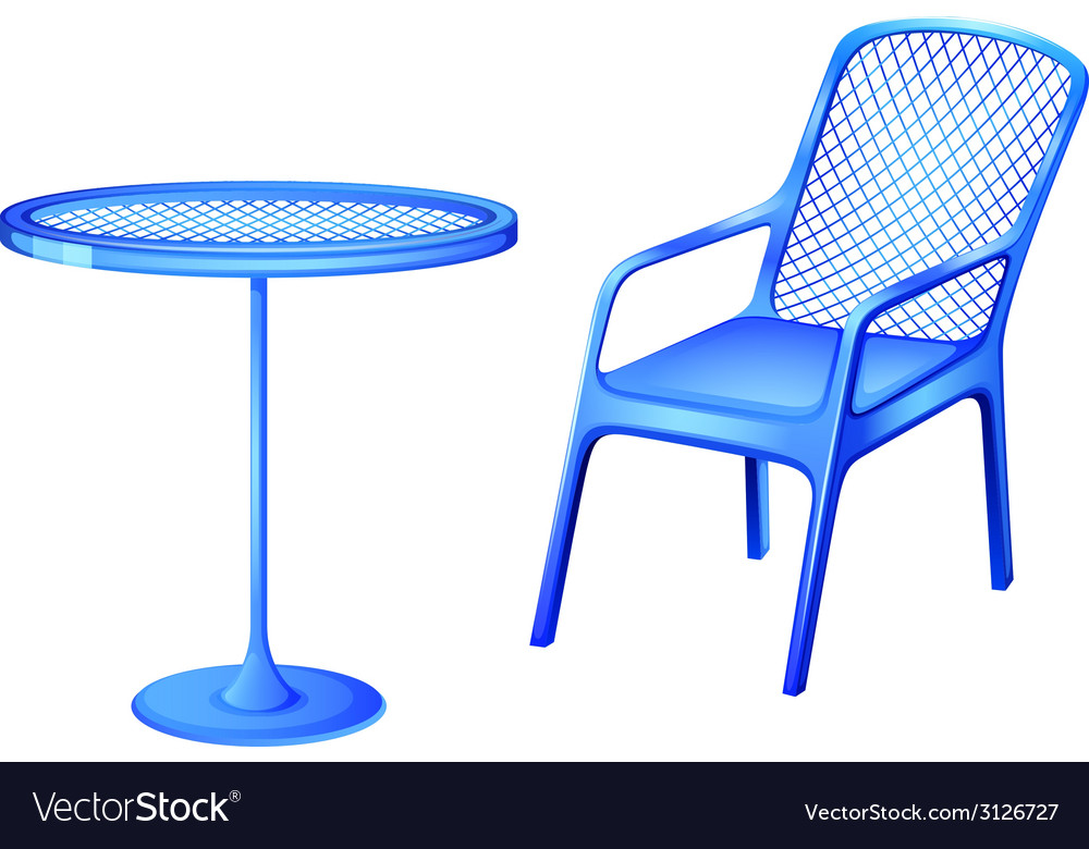 A blue table and chair vector | Price: 1 Credit (USD $1)
