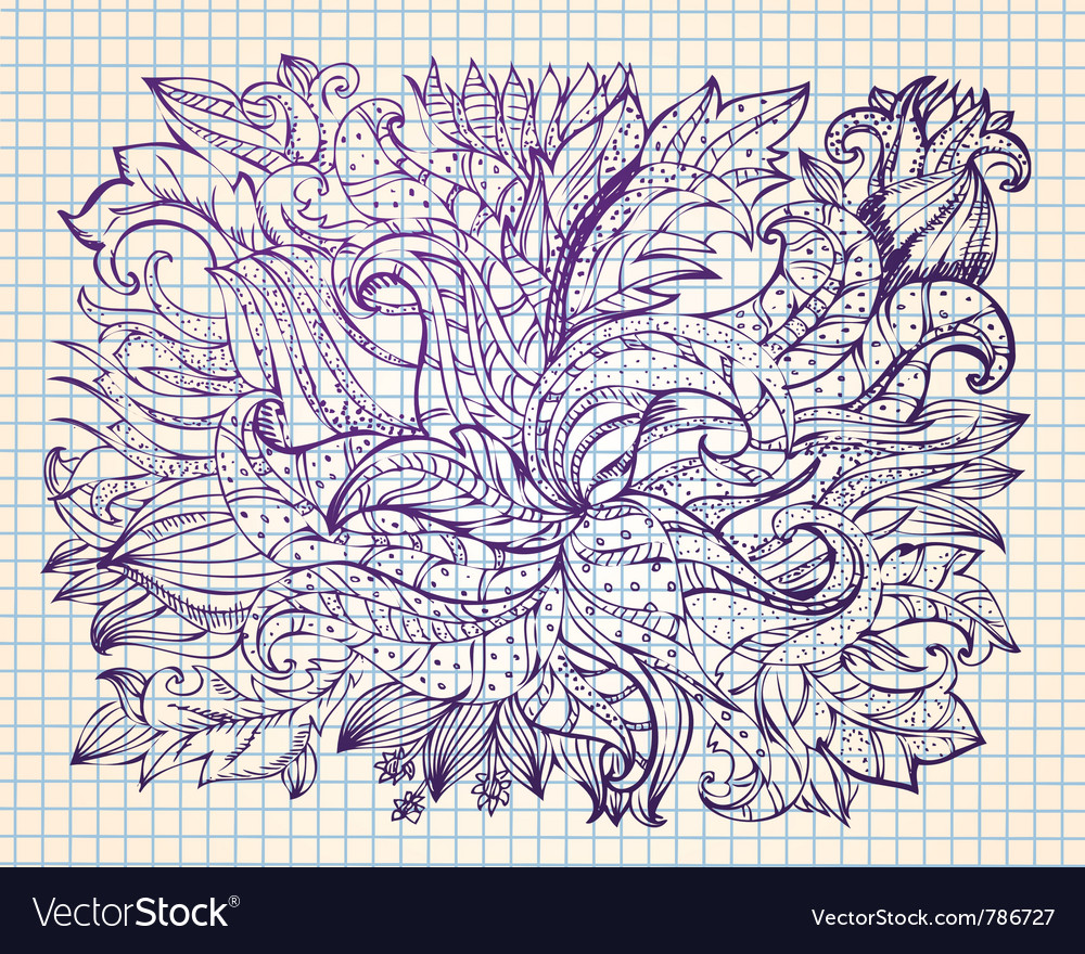 Abstract drawing by hand vector | Price: 1 Credit (USD $1)
