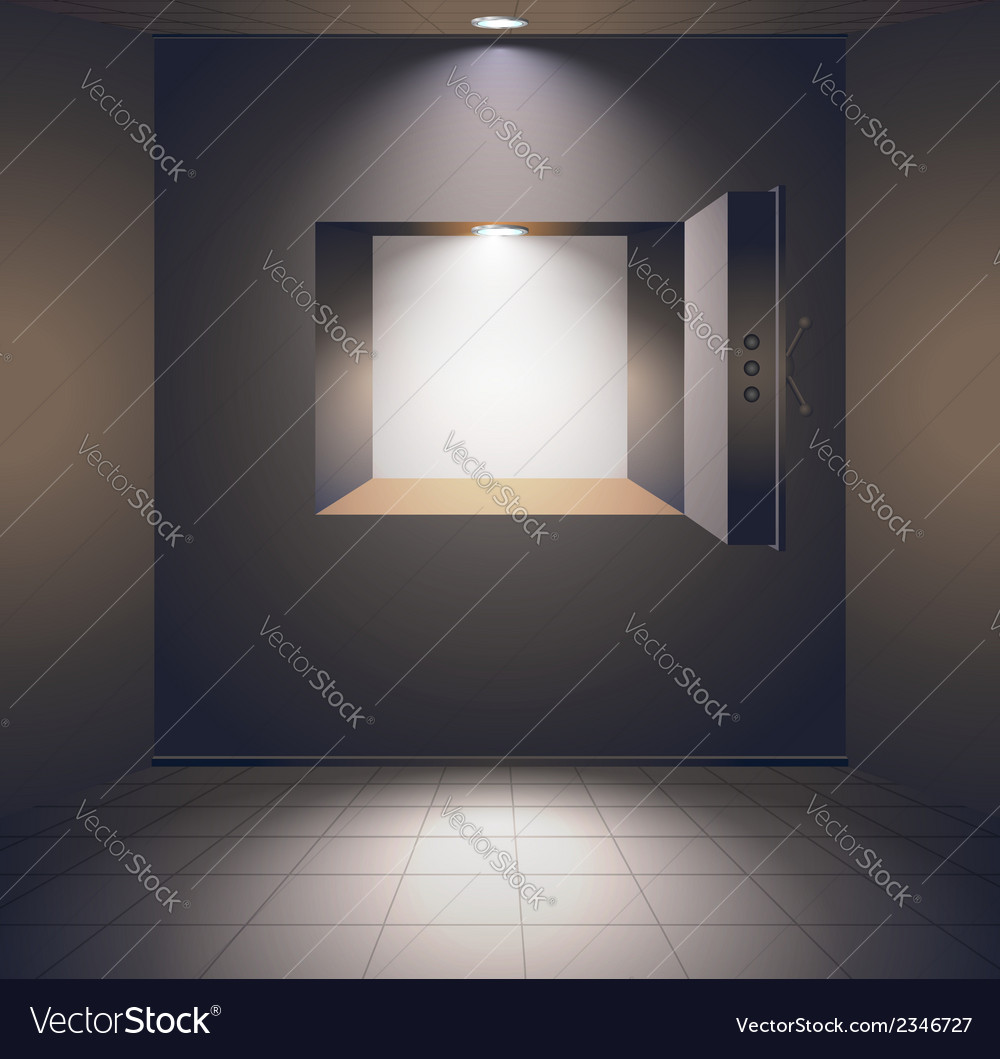 Bank room with safe vector | Price: 1 Credit (USD $1)