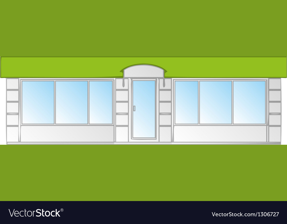 Building facade vector | Price: 1 Credit (USD $1)