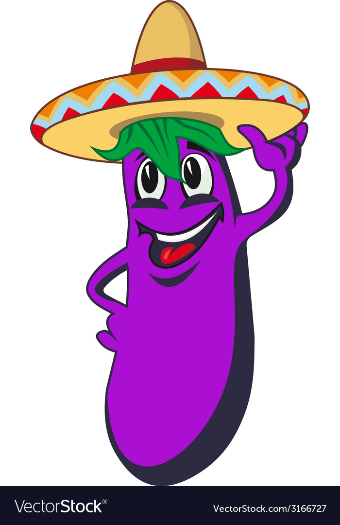 Cartoon eggplant vector | Price: 1 Credit (USD $1)