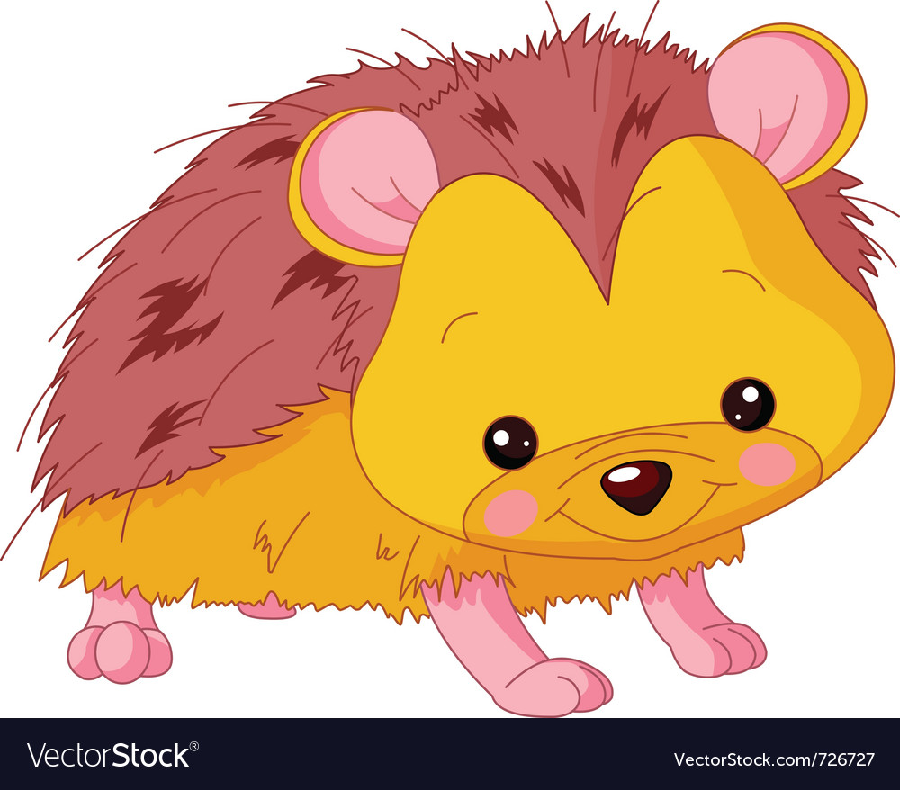 Cartoon hedgehog vector | Price: 1 Credit (USD $1)