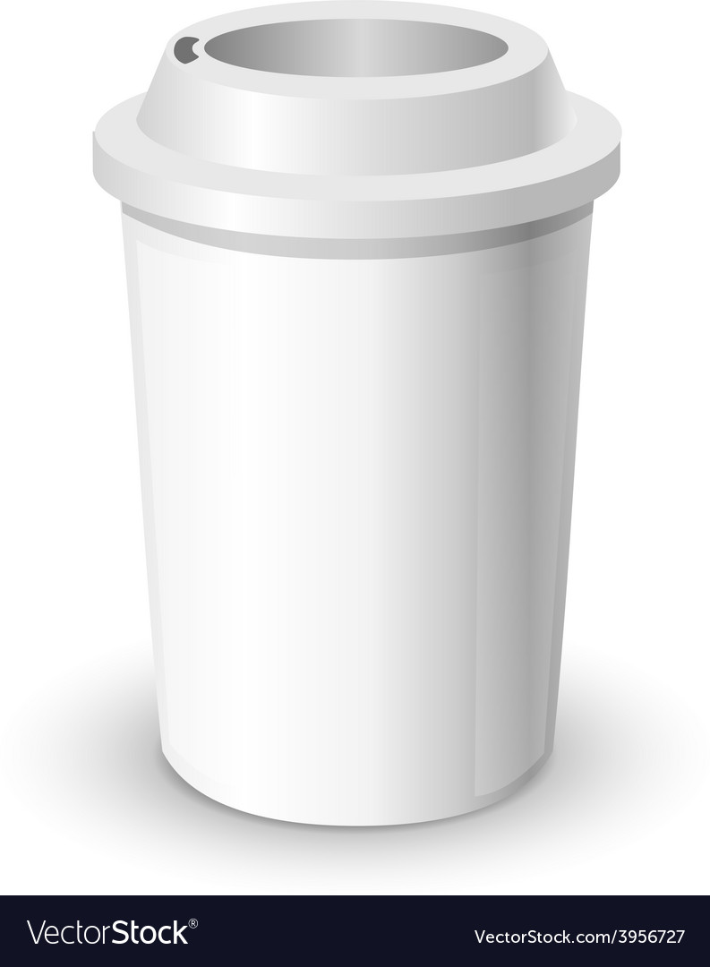 Coffee cup realistic mock up isolated vector | Price: 1 Credit (USD $1)