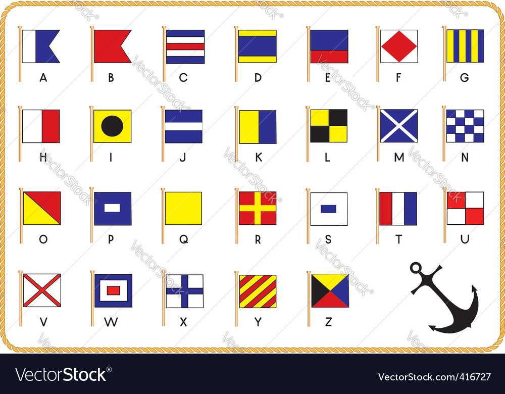 Nautical flags vector | Price: 1 Credit (USD $1)
