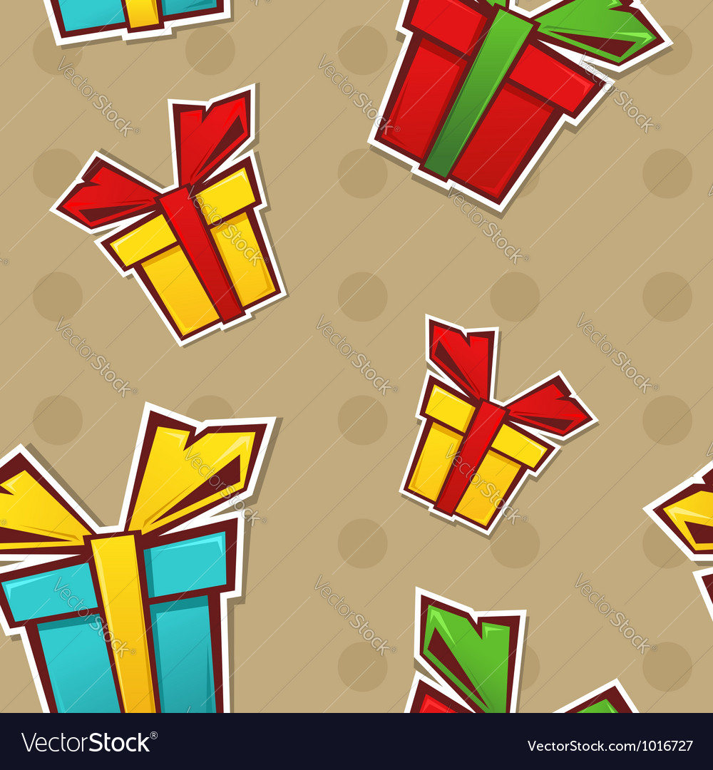 Seamless repeating pattern with colorful gift vector | Price: 1 Credit (USD $1)
