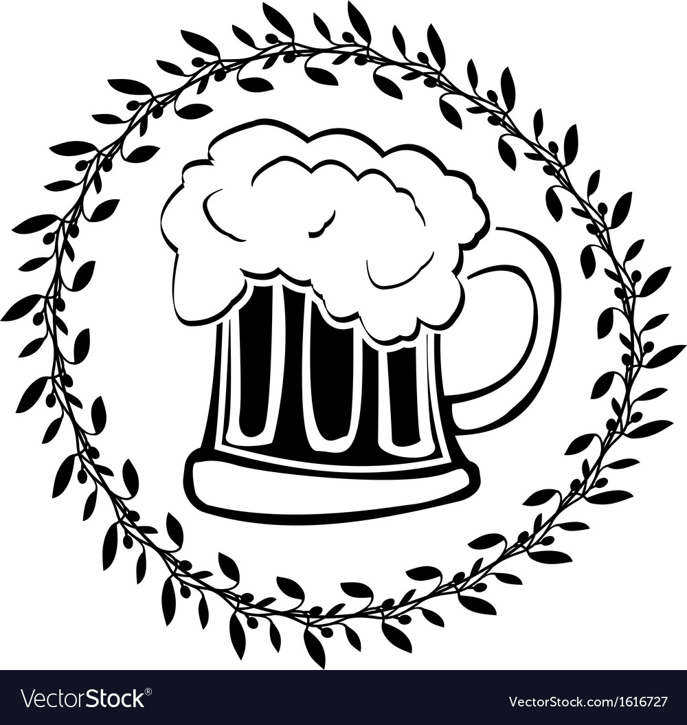 Stencil of glass of beer vector | Price: 1 Credit (USD $1)
