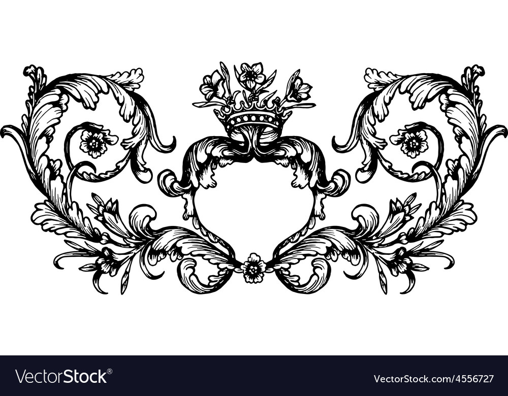 Vintage royal frame vector | Price: 1 Credit (USD $1)
