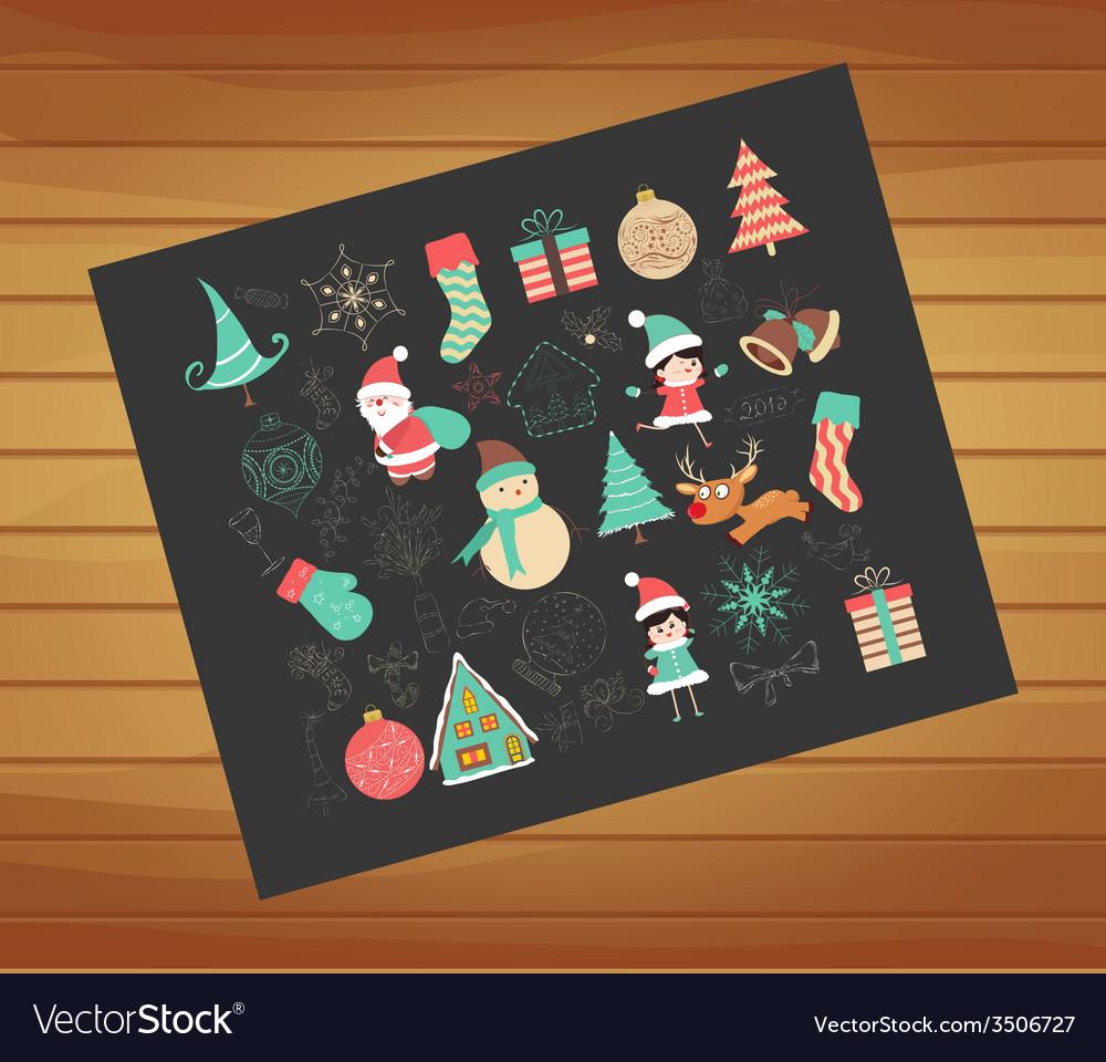 Winter joy decoration vector | Price: 1 Credit (USD $1)