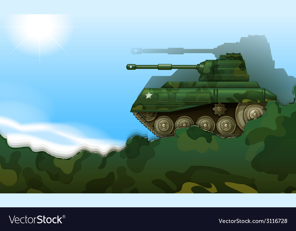 A fighting tank vector | Price: 1 Credit (USD $1)