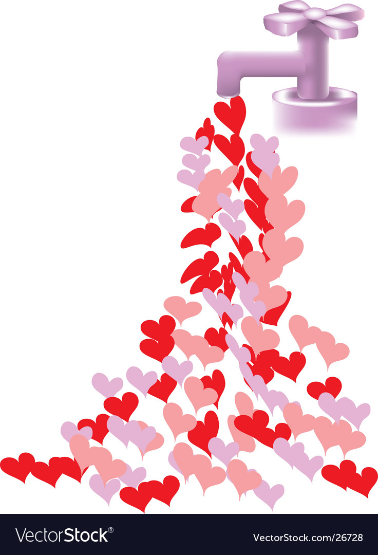 Heart faucet vector | Price: 1 Credit (USD $1)