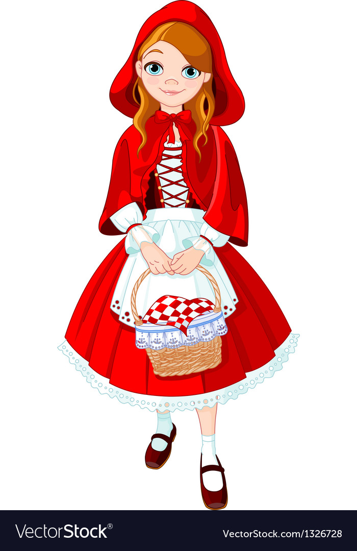 Little red riding hood vector | Price: 5 Credit (USD $5)