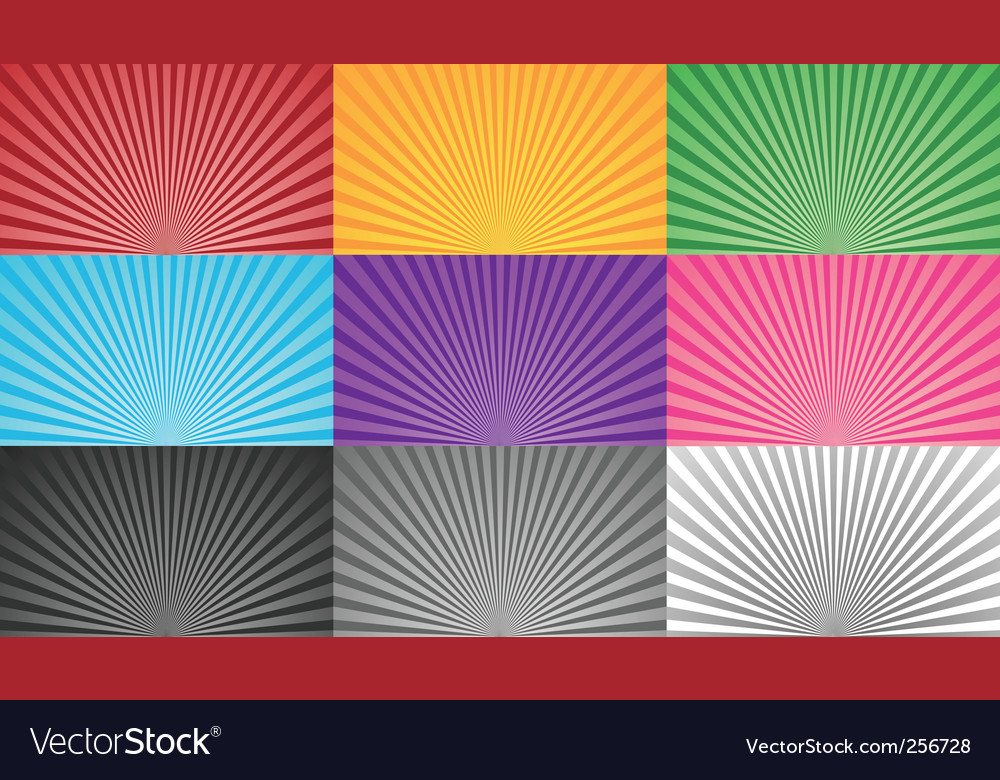 Multicoloured sunbursts vector | Price: 1 Credit (USD $1)