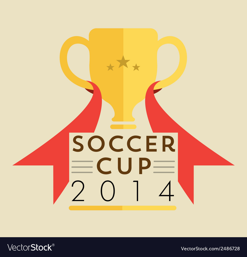 Soccer cup badge vector | Price: 1 Credit (USD $1)