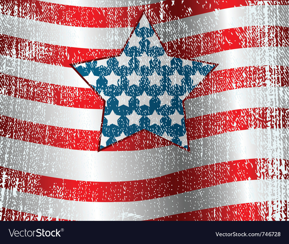 Usa flag theme grunge background vector | Price: 1 Credit (USD $1)