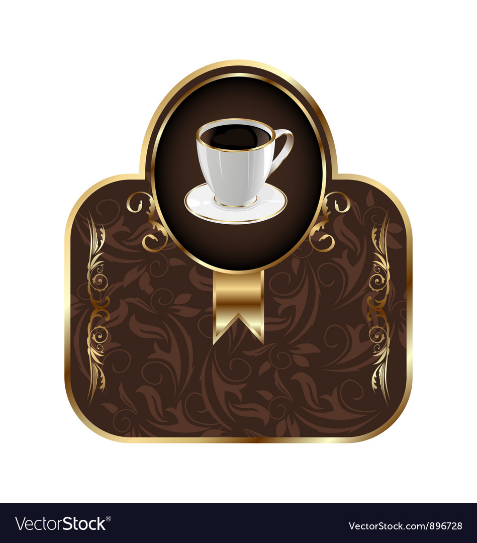 Vintage coffee label vector | Price: 1 Credit (USD $1)