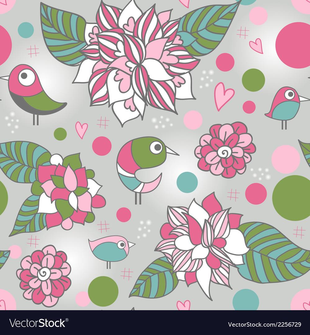Bird pattern vector | Price: 1 Credit (USD $1)